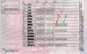 Ημερομηνία λήξης του ΠΕΙ στο δίπλωμα οδήγησης