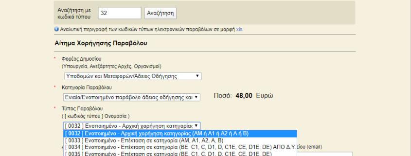 Ενοποιημένο e-Παράβολο εφαρμογή